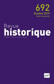 Revue historique 2019, n° 692