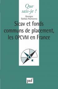 Les Sicav et fonds communs de placement