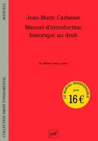 Manuel d'introduction historique au droit