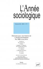 année sociologique 2019, vol. 69 (1)