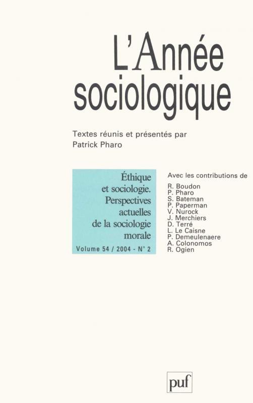 L'ANNEE SOCIOLOGIQUE