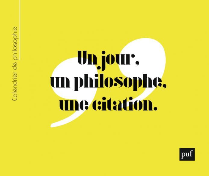 Calendrier de philosophie